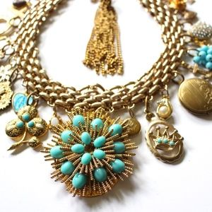 Handmade Statement Necklace The Blues